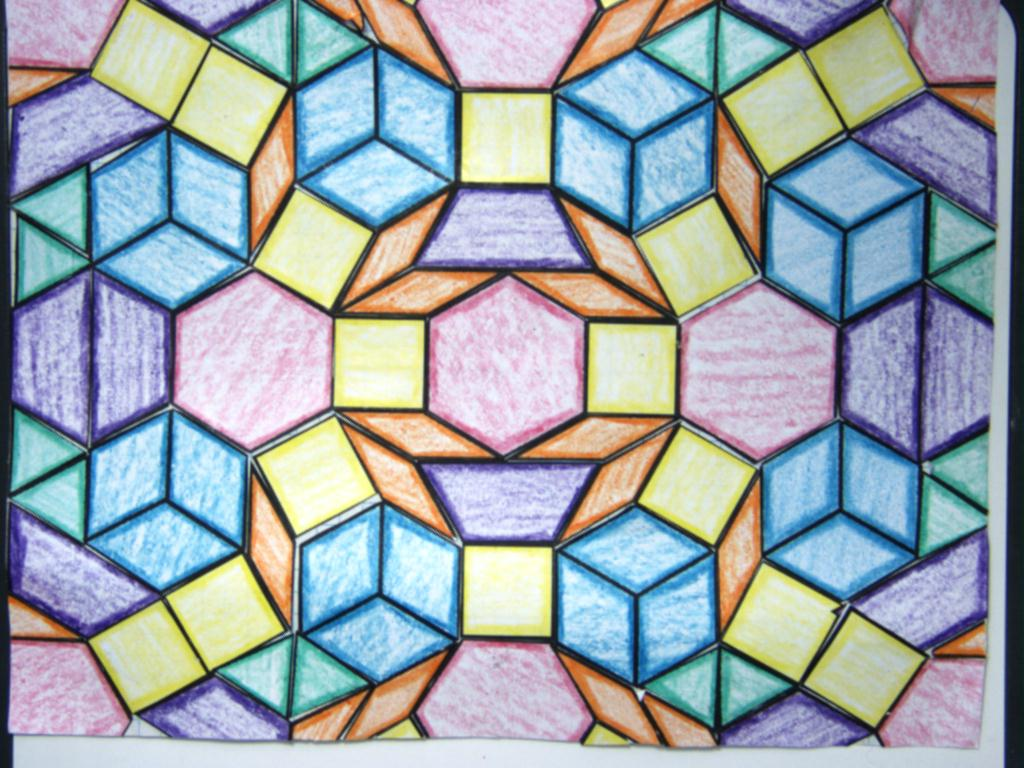 what is a tessellation When two or three types of polygons share a common vertex, a semi-regular tessellation is forms there are nine different types of semi-regular tessellations including combining a hexagon and a square that both contain a 1-inch side.